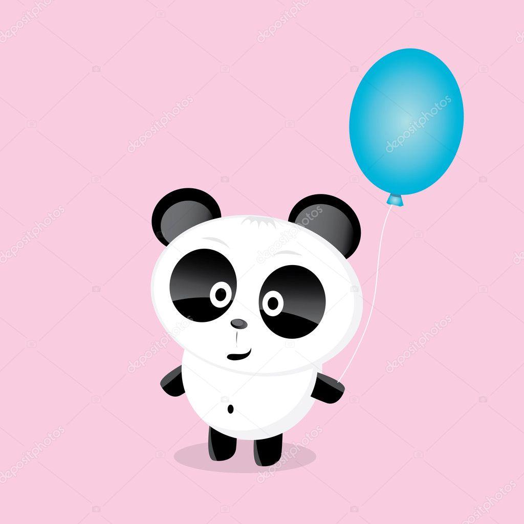 Vettore cartone animato orso panda u vettoriali stock zm ter