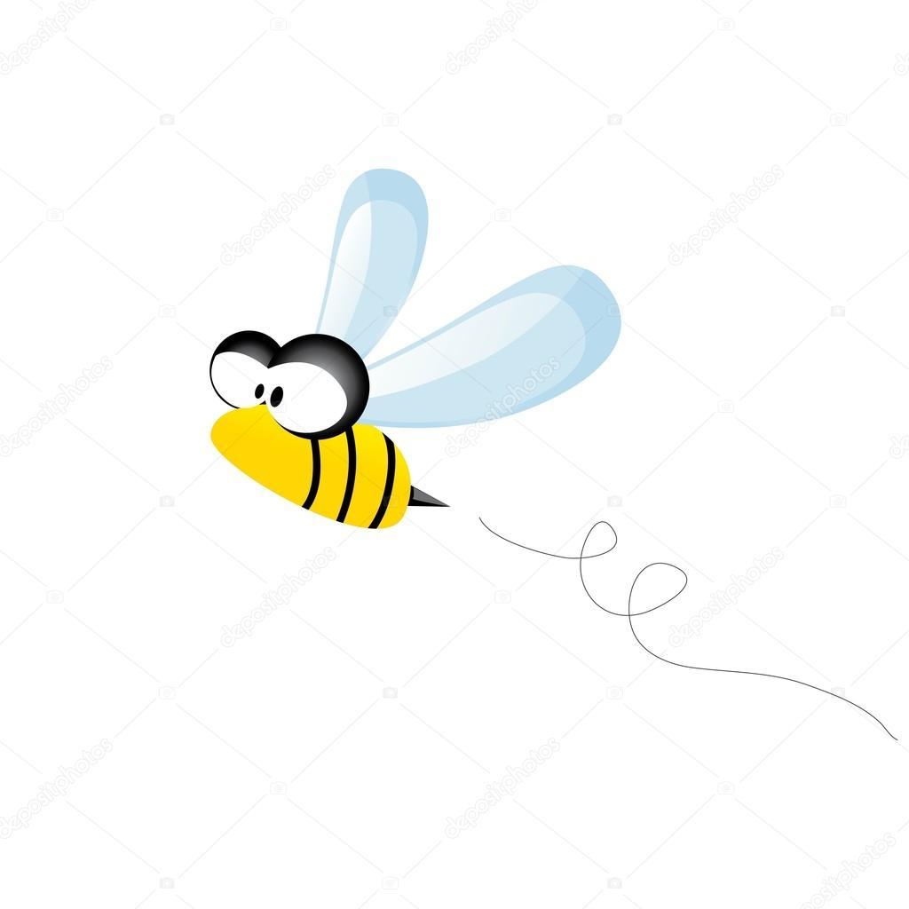Cartoon cute bright baby bee. vector illustration.