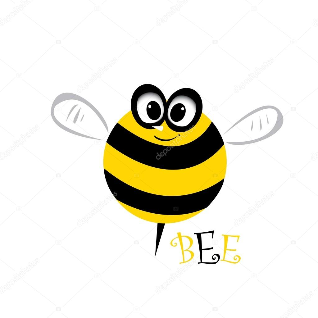 Cartoon cute bright baby bee. vector illustration.