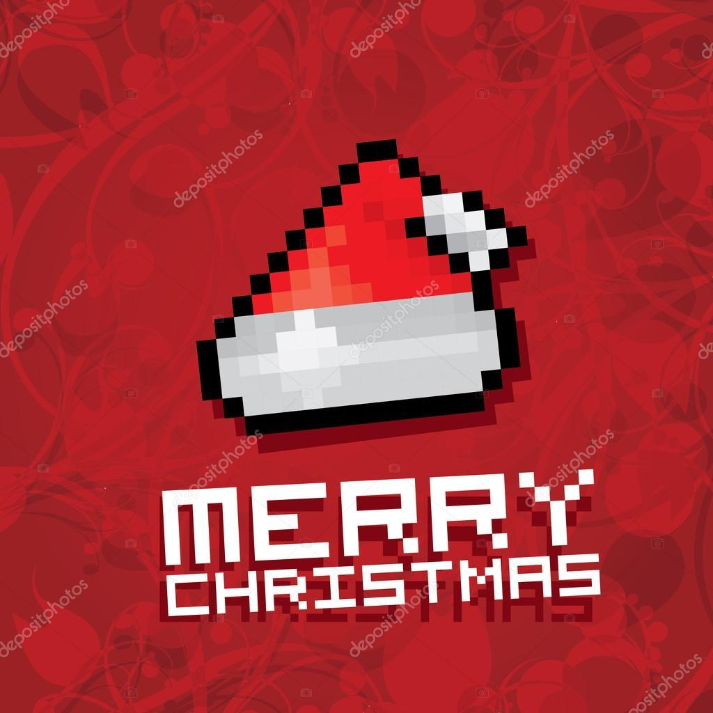 Chapeau De Père Noël Rouge Pixel Image Vectorielle Zm1ter
