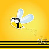 Fényképek rajzfilm aranyos fényes baba méh. vektoros illusztráció