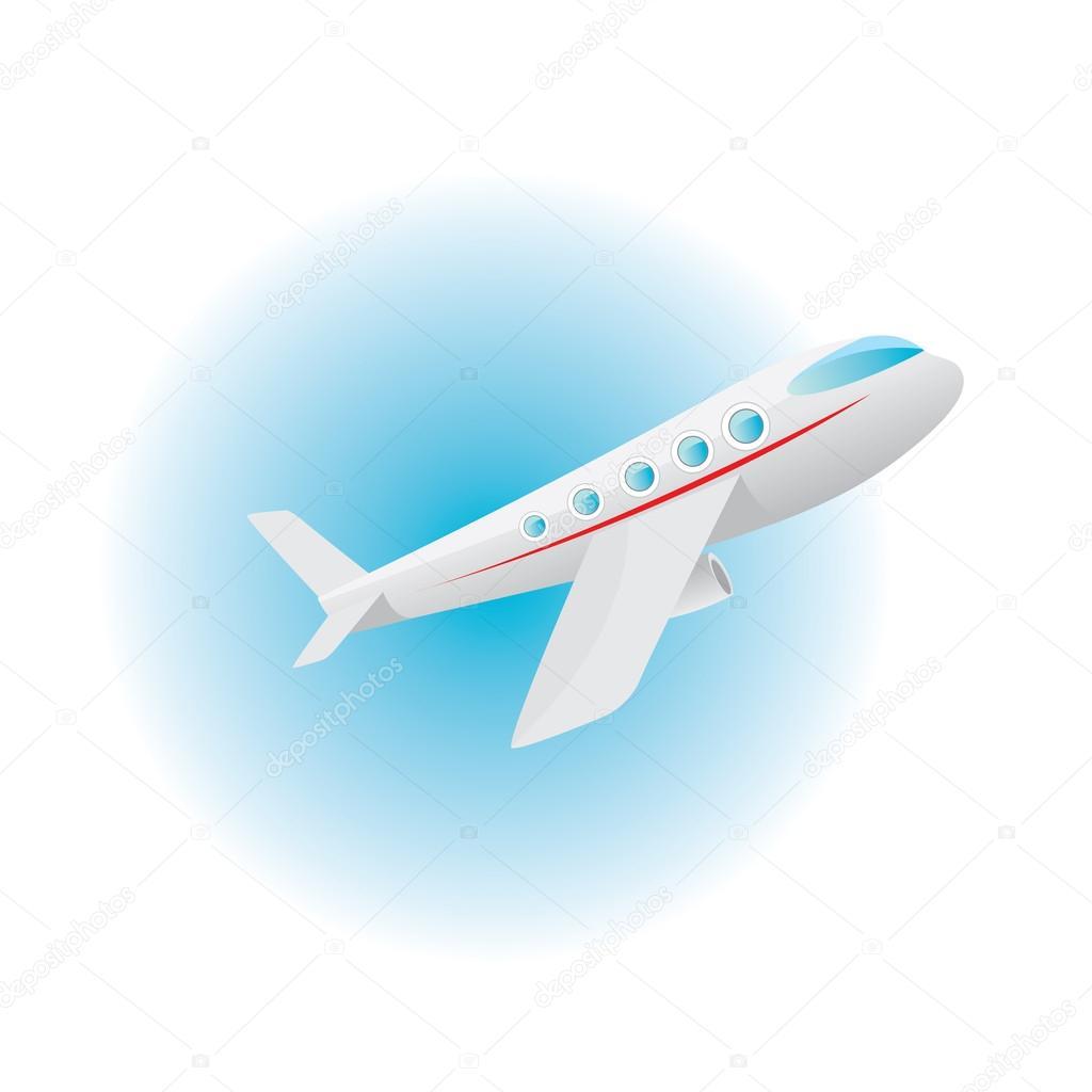 Vettore: jet aereo cartoni icona di vettore aereo. piano di