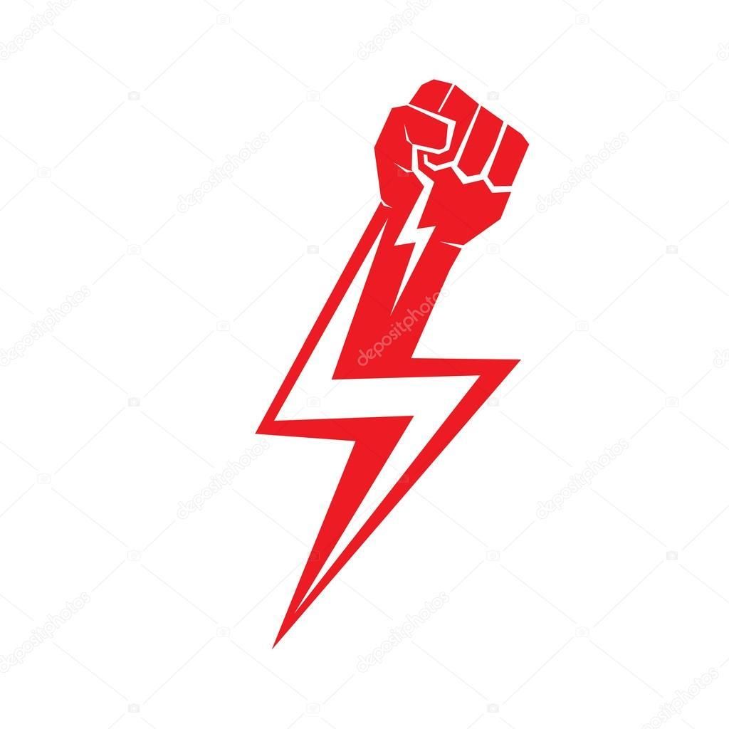Freiheit Konzept Vektor Rote Faust Symbol Stockvektor Zm1ter