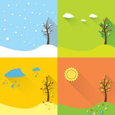 vector banner - four seasons