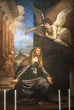 Annunciation - Painting in the San Nicola church of Tolentino