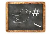 Photo Blackboard Hashtag Social Media