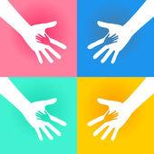 podané ruce dobročinnost