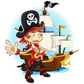 Pirát kluk a jeho velké válečné lodi