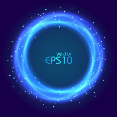 Abstract blue glowing circle
