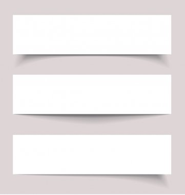 Banners with shadows, vector illustration stock vector