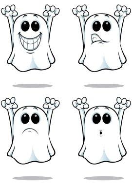 Cartoon Ghosts - Set 2