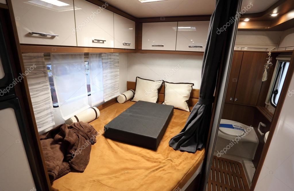 DUSSELDORF - SEPTEMBER 4: Interior of a modern camper van at the ...