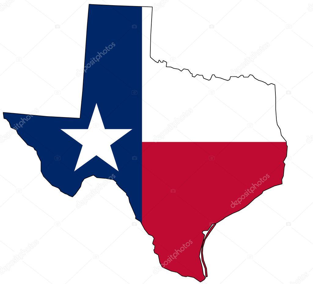 Mapa De Texas En Colores Nacionales Foto De Stock Philipus - Mapas de texas
