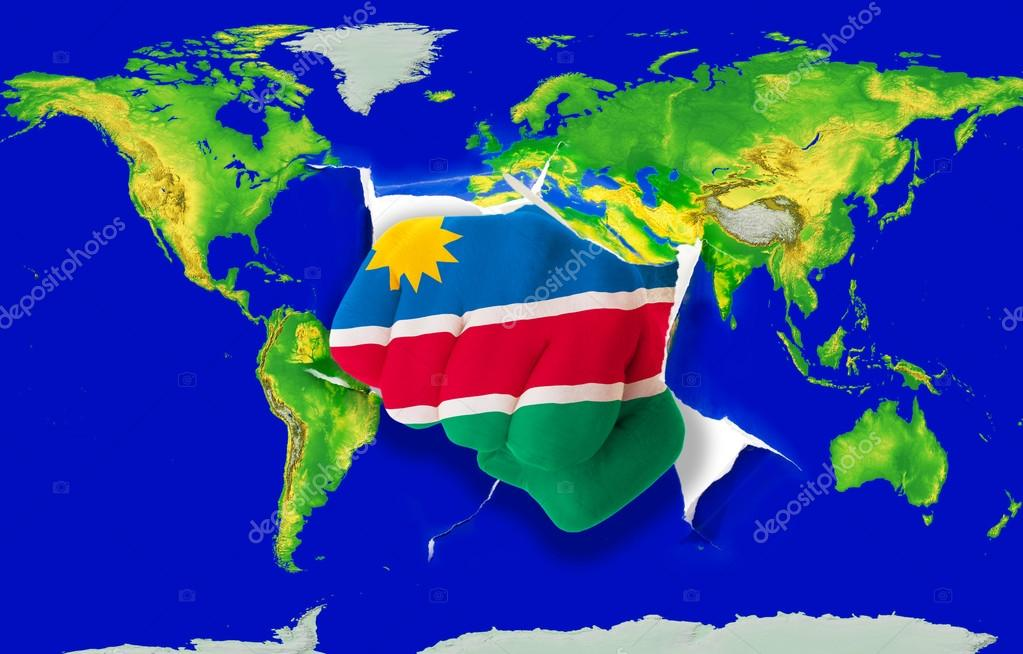 Fist in color national flag of namibia punching world map fotos de fist in color national flag of namibia punching world map fotos de stock gumiabroncs Gallery