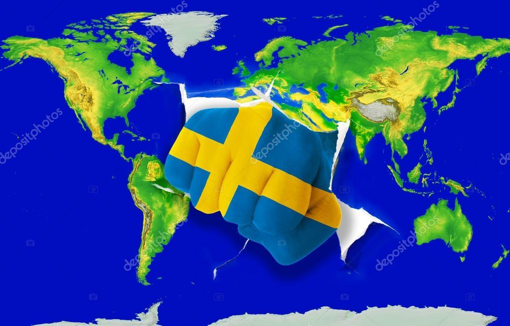 mapa mundo suecia Suecia mapa mundi | puño en color de la bandera nacional de Suecia  mapa mundo suecia