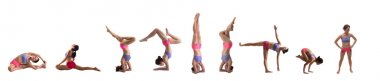 Collection of yoga poses isolated