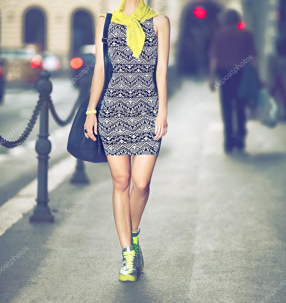 Urban style fashion girl — Stock Photo © Porechenskaya #48587603