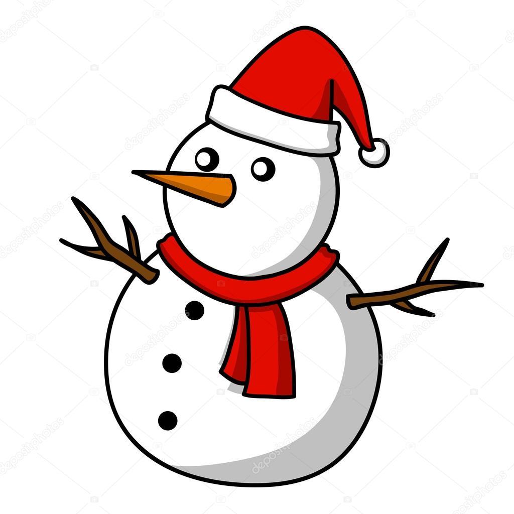 Christmas Snowman Cartoon Stock Vector C Kanate 13428089