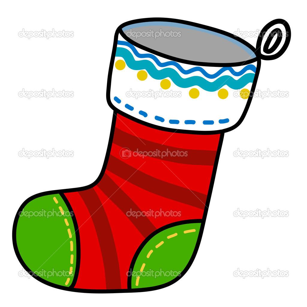 caricatura de escritura de mano de calcetn de navidad u vector de kanate