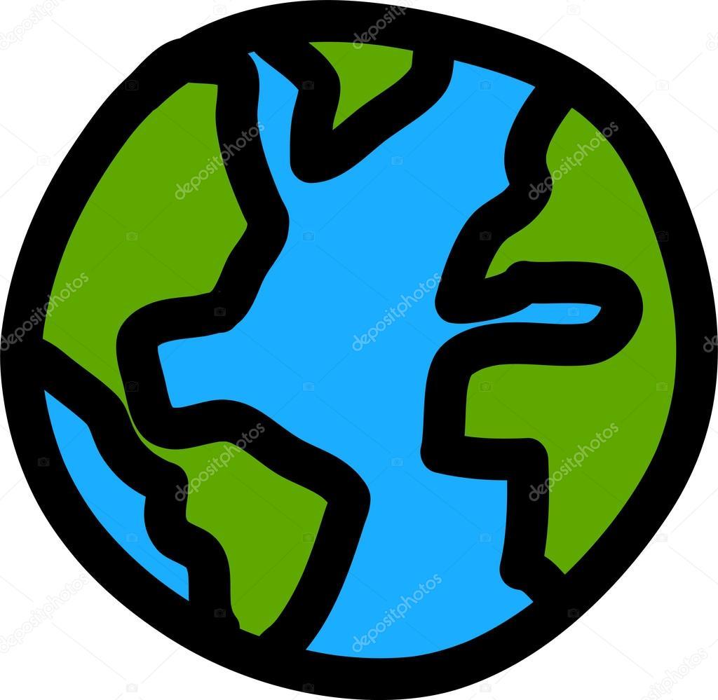 planet earth hand writing cartoon credit nasa stock vector rh depositphotos com earth cartoon pictures save earth cartoon images