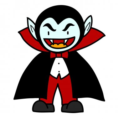 Prince Dracula on a white background vector illustration cartoon