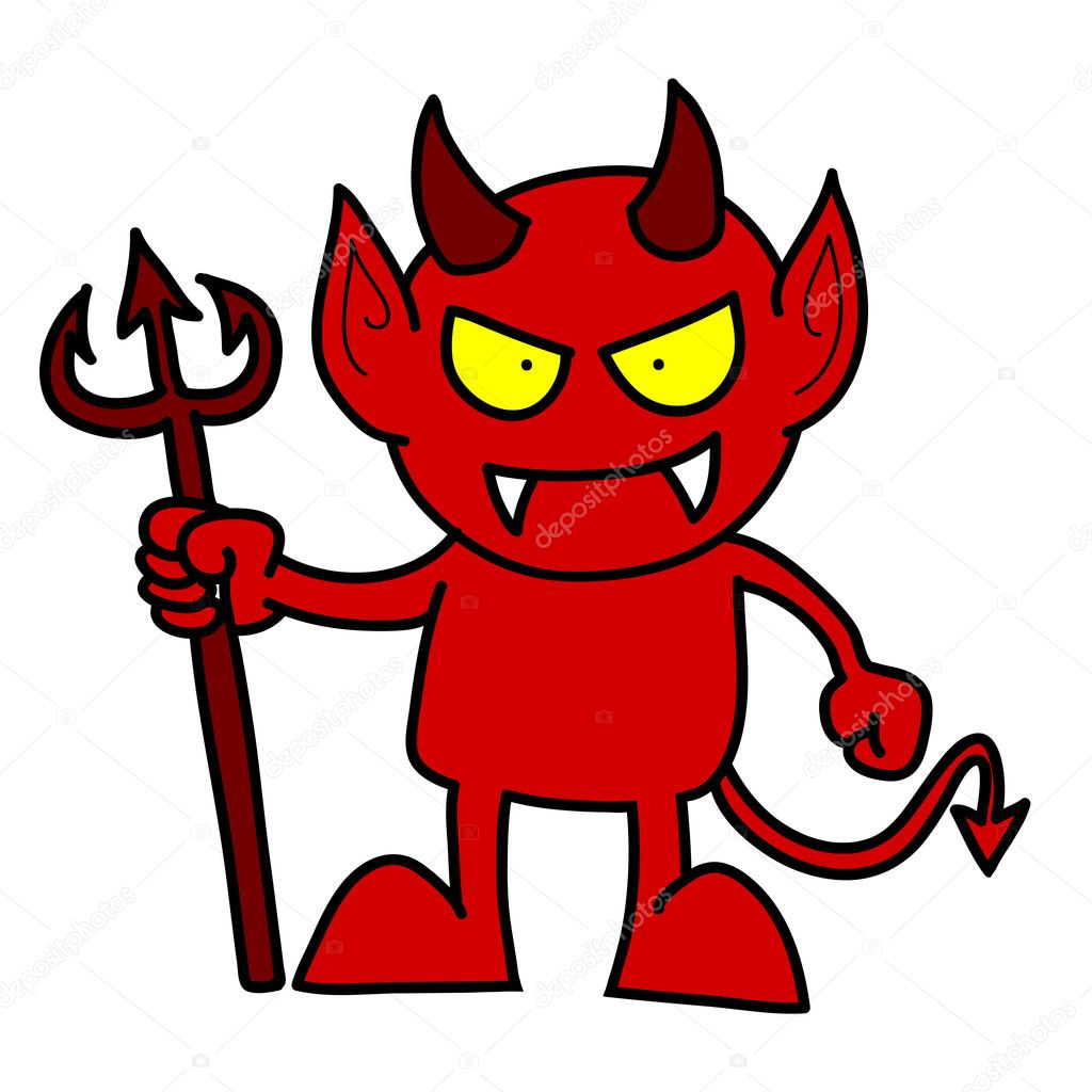 Pictures: cartoon red devils | Cartoon red devil — Stock ...