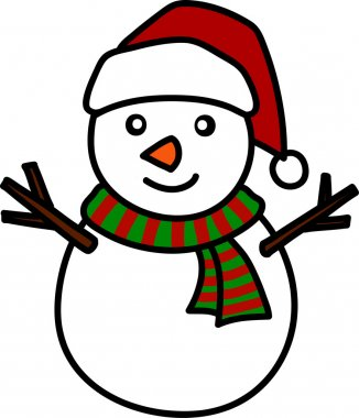 Christmas Snowman Hand writing cartoon.