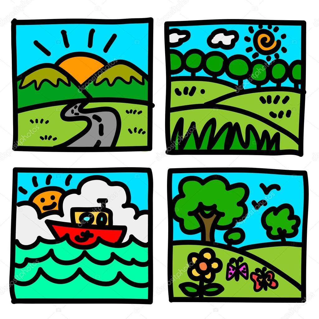 Illustration of nature and travel
