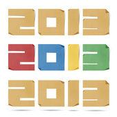 Nový rok 2013 origami recyklovaný papír
