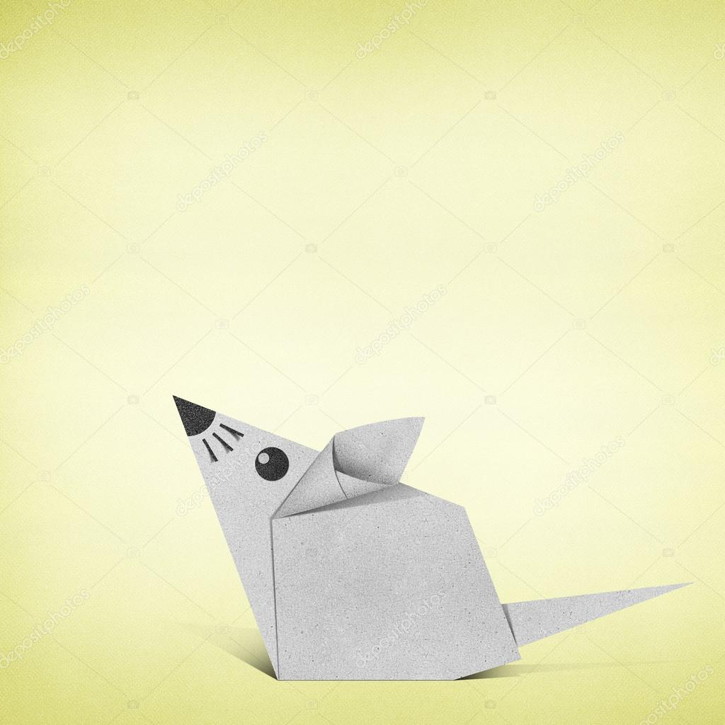 Origami rat made from recycle paper stock photo kanate 18072905 origami rat made from recycle paper stock photo jeuxipadfo Images
