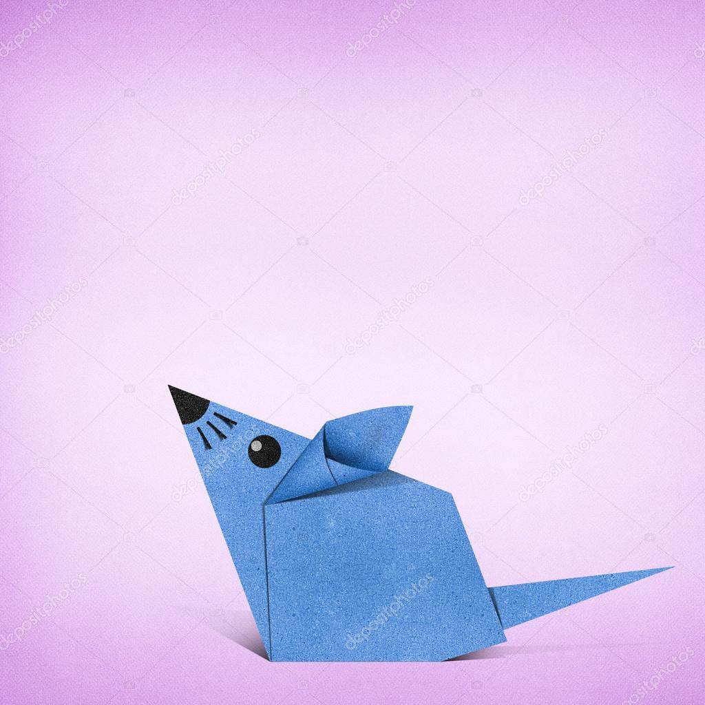 Origami rat made from recycle paper stock photo kanate 18072915 origami rat made from recycle paper stock photo jeuxipadfo Images