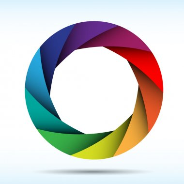 Colorful camera shutter background