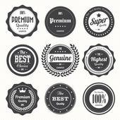 Fotografia set di etichette e distintivi vintage retrò