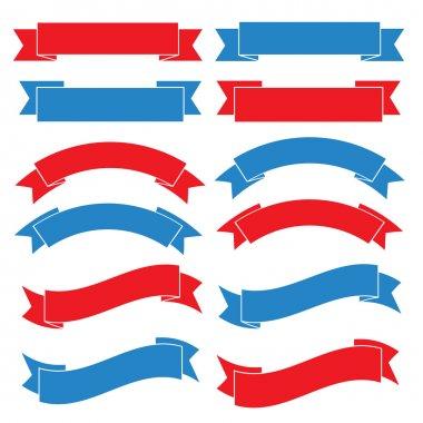 Set of old ribbon banner,Illustration