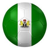 prostorové vykreslování fotbalového míče. (Vzor nigerijské vlajky)