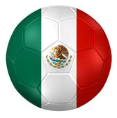 3d rendering of a soccer ball. ( Mexico Flag Pattern )