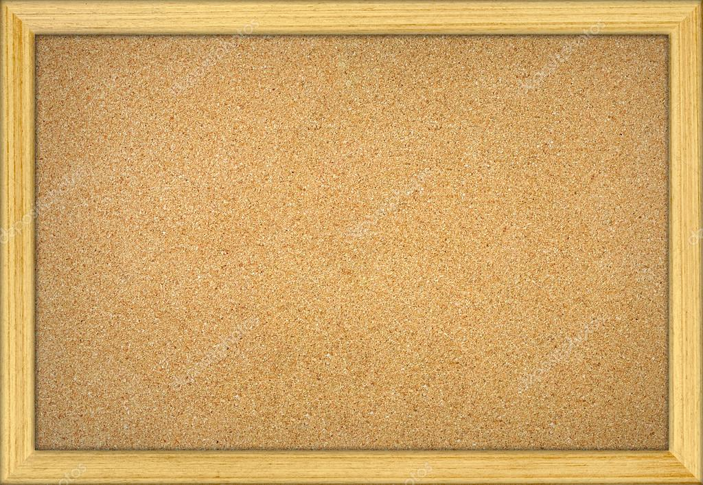 Empty office cork notice board with wood frame — Stock Photo ...