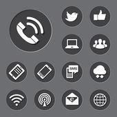 Mobilní zařízení a sítě ikony nastavit