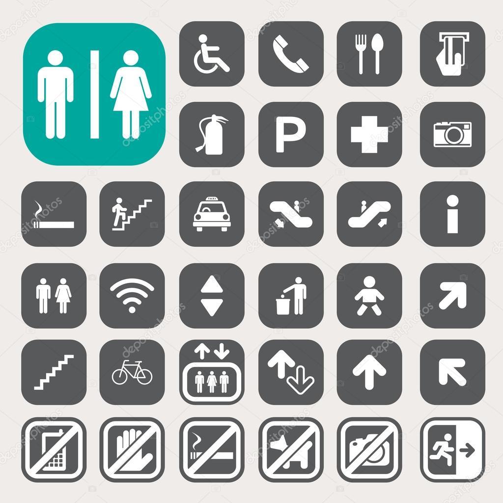 Public icons set