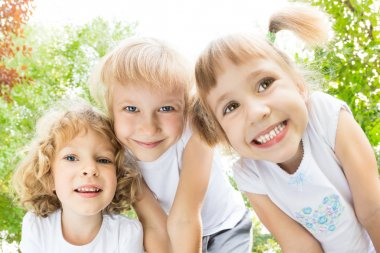 Children having fun outdoors