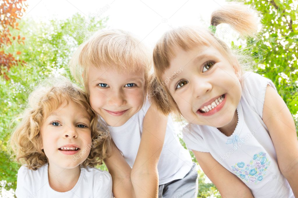 Children having fun outdoors