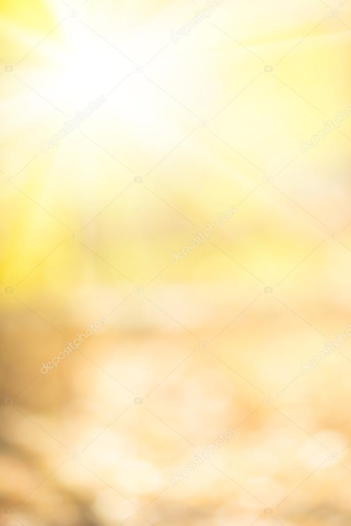 Autumn yellow blurred abstract background