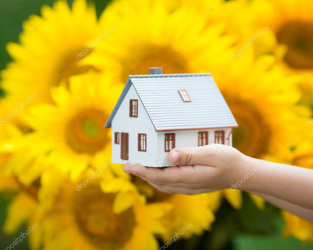 House in childrens hands