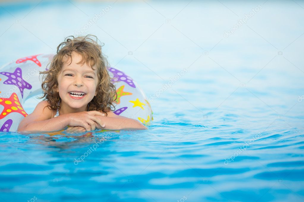 Child in swimming pool
