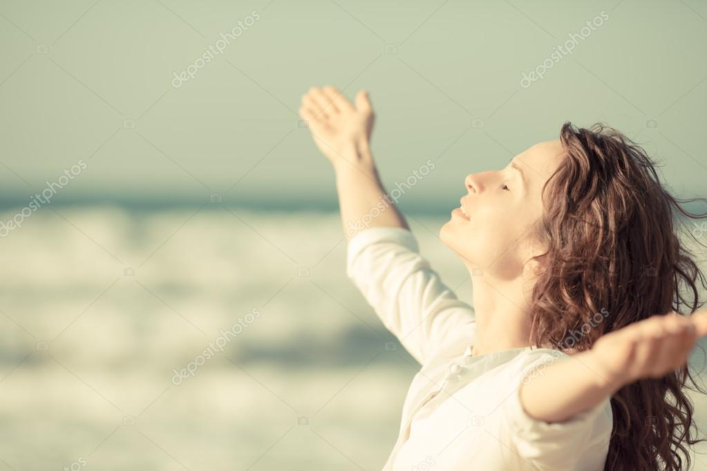 Beautiful woman enjoying life