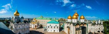 Kremlin tour 17: Panorama of Cathedral square of the Kremlin