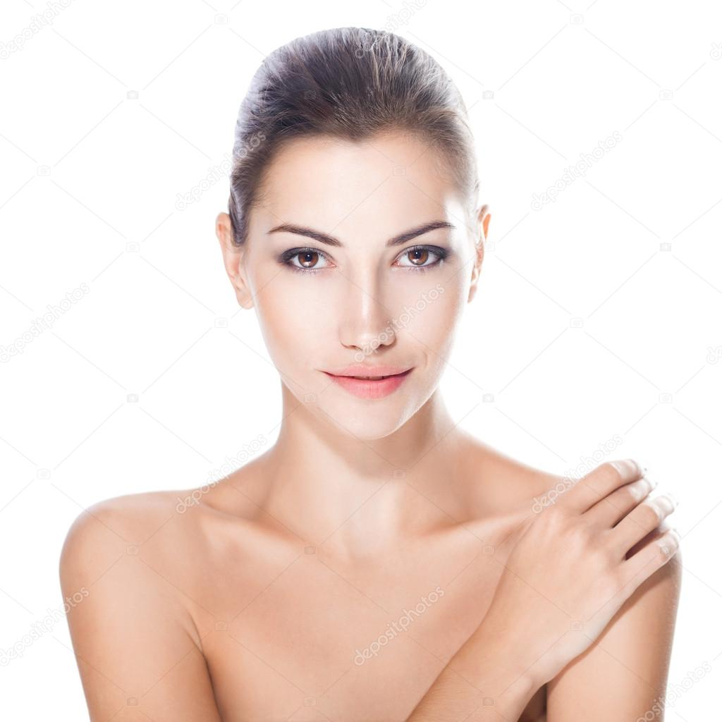 beautiful young woman with healthy face