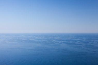 Sea horizon over blue sky stock vector