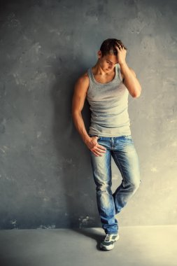 Portrait of young stylish man