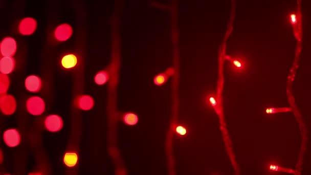 Red Christmas lights flickering